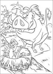 plansa de colorat lion king de colorat p66