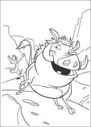 plansa de colorat lion king de colorat p69