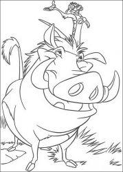 plansa de colorat lion king de colorat p80