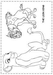 plansa de colorat lion king de colorat p95