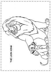 plansa de colorat lion king de colorat p96