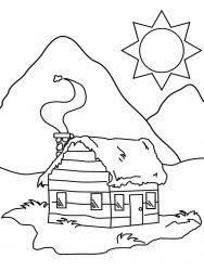 plansa de colorat locuinte de colorat p06