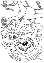 plansa de colorat looney tunes de colorat p17