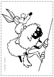 plansa de colorat looney tunes de colorat p32