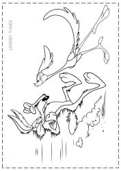 plansa de colorat looney tunes de colorat p34
