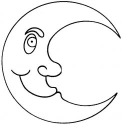 plansa de colorat luna de colorat p03