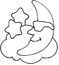 plansa de colorat luna de colorat p05