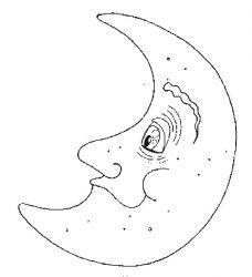 plansa de colorat luna de colorat p09
