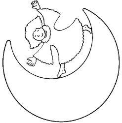 plansa de colorat luna de colorat p13