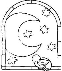 plansa de colorat luna de colorat p16