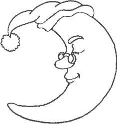 plansa de colorat luna de colorat p17