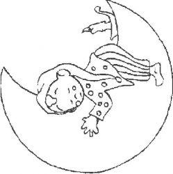plansa de colorat luna de colorat p18