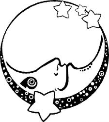 plansa de colorat luna de colorat p19