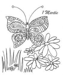 plansa de colorat martisor de colorat p05
