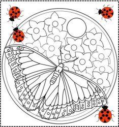 plansa de colorat martisor de colorat p06