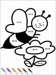 plansa de colorat matematica distractiva de colorat p01