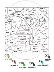 plansa de colorat matematica distractiva de colorat p06
