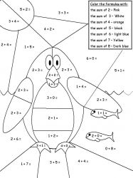 plansa de colorat matematica distractiva de colorat p18