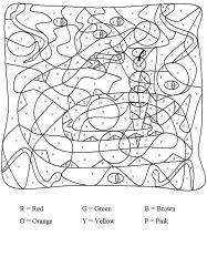 plansa de colorat matematica distractiva de colorat p20