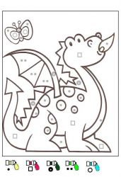 plansa de colorat matematica distractiva de colorat p32
