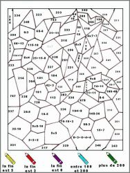 plansa de colorat matematica distractiva de colorat p34