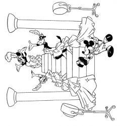 plansa de colorat mickey mouse de colorat p35