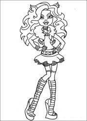 plansa de colorat monster high de colorat p01