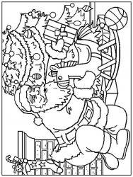plansa de colorat mos craciun de colorat p28