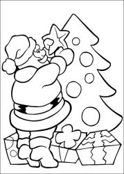 plansa de colorat mos craciun de colorat p36