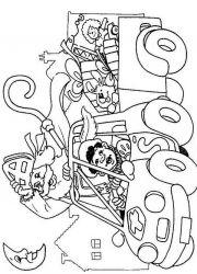 plansa de colorat mos nicolae de colorat p13