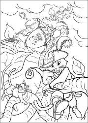 plansa de colorat motanul incaltat de colorat p24