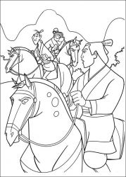 plansa de colorat mulan de colorat p51