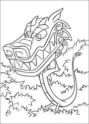 plansa de colorat mulan de colorat p73