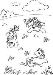 plansa de colorat my little poney de colorat p01