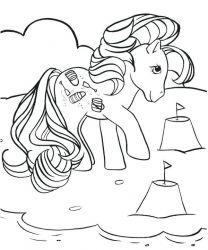 plansa de colorat my little poney de colorat p04