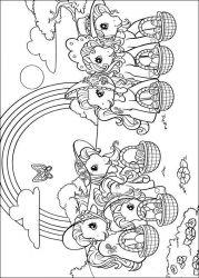 plansa de colorat my little poney de colorat p26