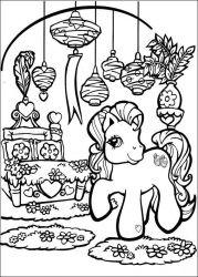 plansa de colorat my little poney de colorat p48