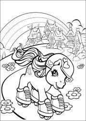 plansa de colorat my little poney de colorat p58
