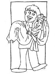 plansa de colorat nunta de colorat p02