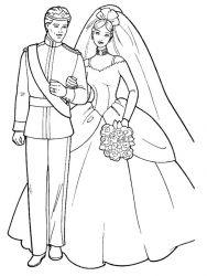 plansa de colorat nunta de colorat p10