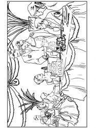plansa de colorat nunta de colorat p17