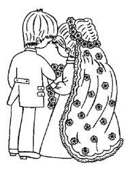 plansa de colorat nunta de colorat p19