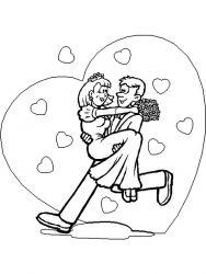 plansa de colorat nunta de colorat p25