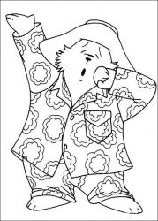 plansa de colorat paddington bear de colorat p08