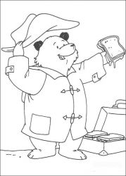 plansa de colorat paddington bear de colorat p18