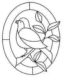plansa de colorat pasari de colorat p73