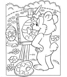 plansa de colorat paste de colorat p177