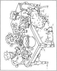 plansa de colorat paste de colorat p181