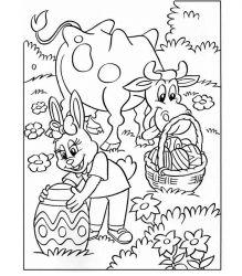 plansa de colorat paste de colorat p235