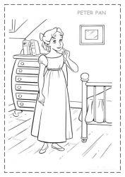 plansa de colorat peter pan de colorat p34